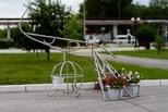Конкурс парковых изделий на СинТЗ: фонтан и мотоцикл из труб
