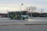 Общественный транспорт работает по расписанию