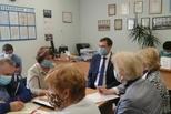 На вопросы ветеранов отвечал заместитель главы города Денис Нестеров