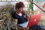 Бабушка по скайпу