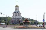 Центр города украсили «фонтаном»