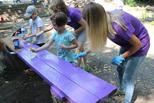 Скамеечки любви и счастья на Аллее волонтеров