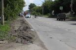 Ремонт дороги на улице Октябрьской решили отложить – не решена проблема отвода воды