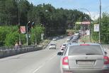 Во второй половине дня на спуске к Байновскому мосту возможны пробки