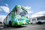 Троллейбус с двумя драконами, расписанный художниками фестиваля STENOGRAFFIA, начал движение в Екатеринбурге