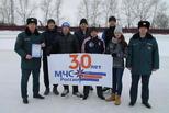 Спасатели соревнуются на коньках