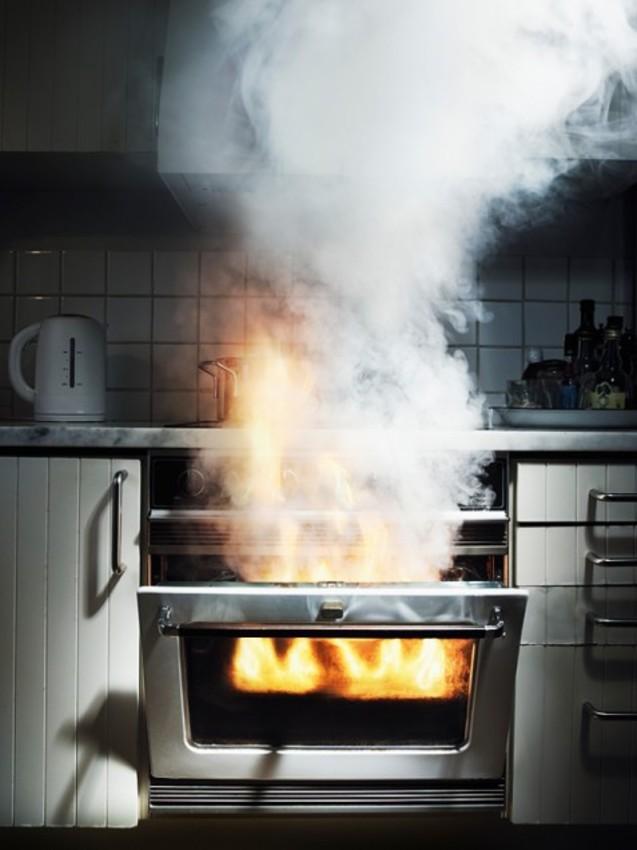 картинки пожара на кухне